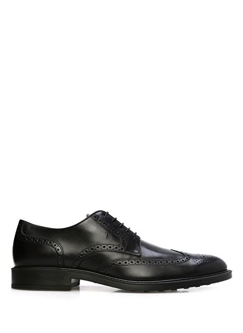 Tod's %100 Deri Oxford Ayakkabı Siyah